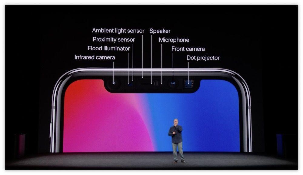 sensores iphone x