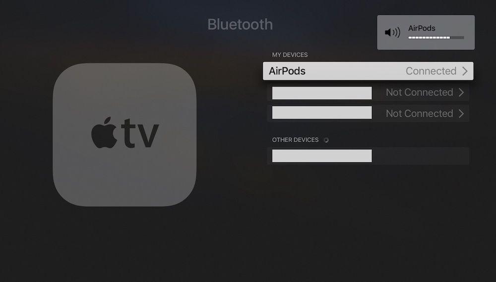 airpods conectados al apple tv