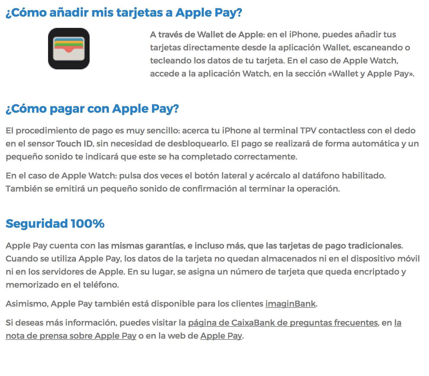 configurar apple pay caixabank