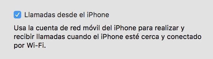llamadas desde el iphone