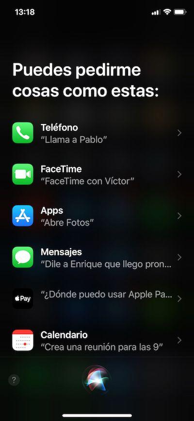 activar siri en iphone x