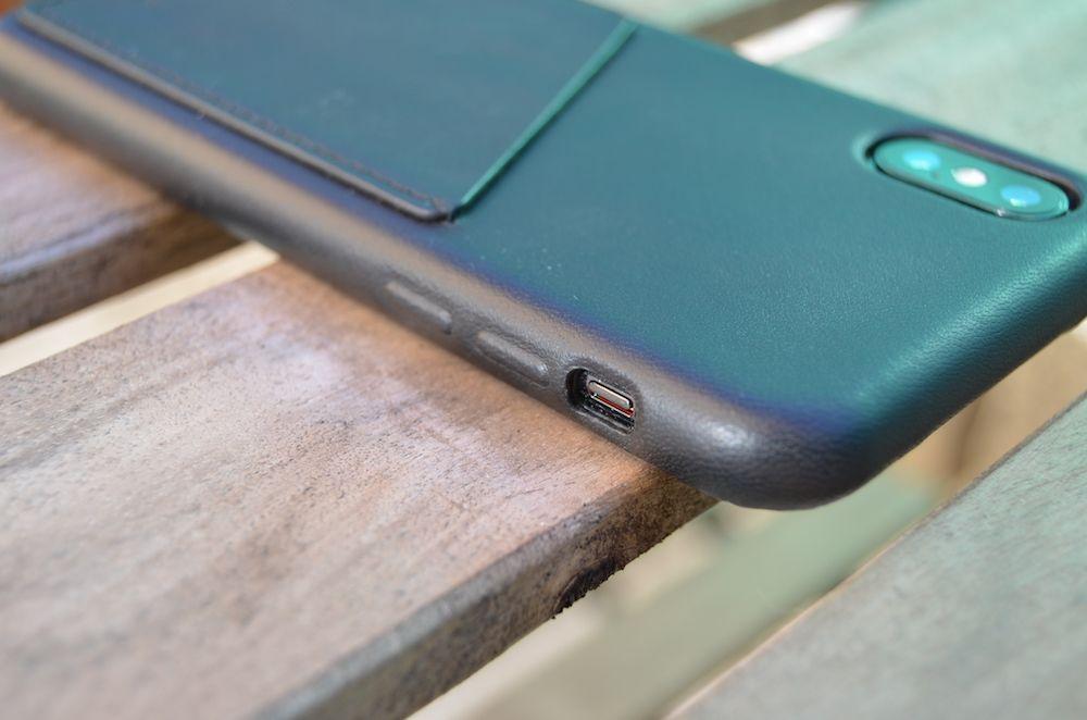 carcasa mujjo iphone x botonera