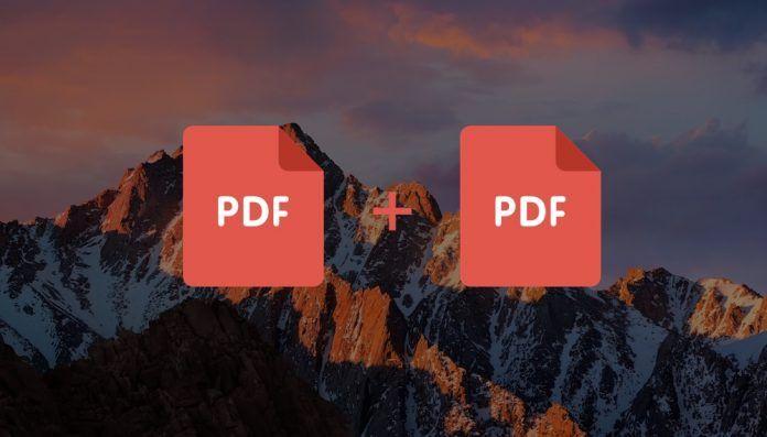 unir archivos pdf mac