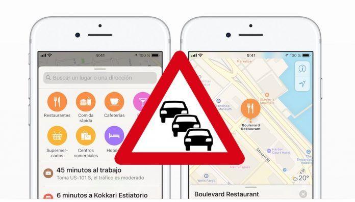 activar avisos trafico iphone