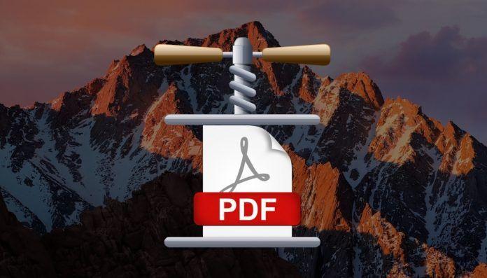 comprimir un pdf en mac