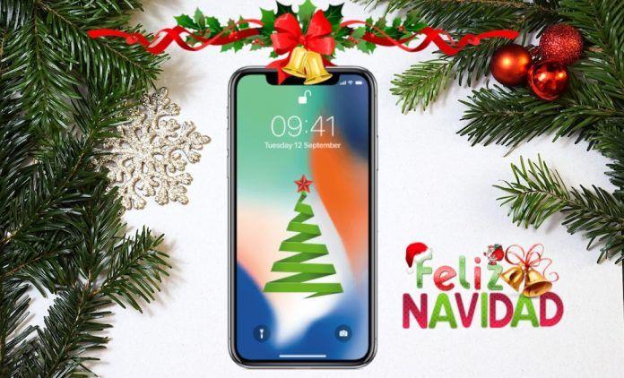 felicitar navidad desde iphone