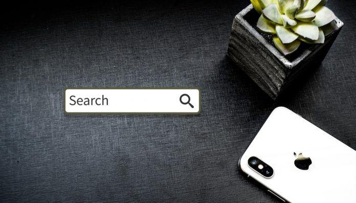 buscar texto en una web en Safari