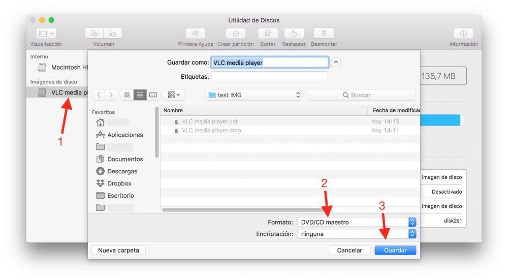 convertir DMG a ISO mac