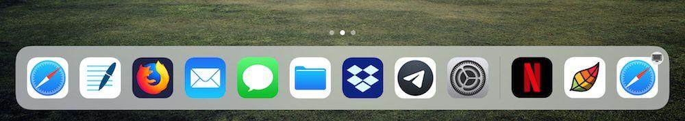 usar el Dock de un iPad