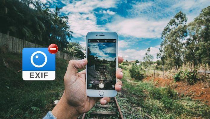 eliminar datos EXIF en iPhone