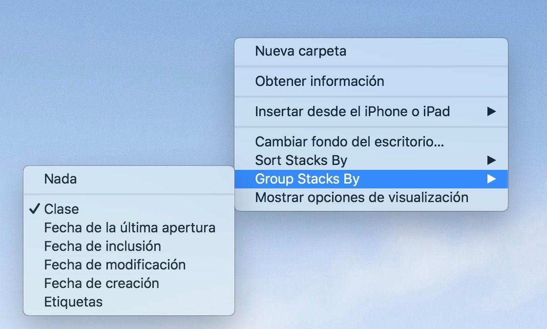Como anadir pilas en macOS Mojave