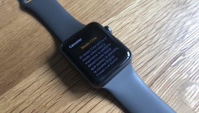 activar modo cine apple watch