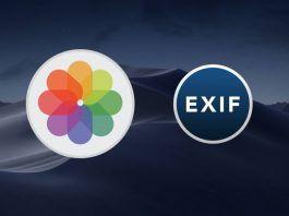 eliminar datos exif de una foto en mac