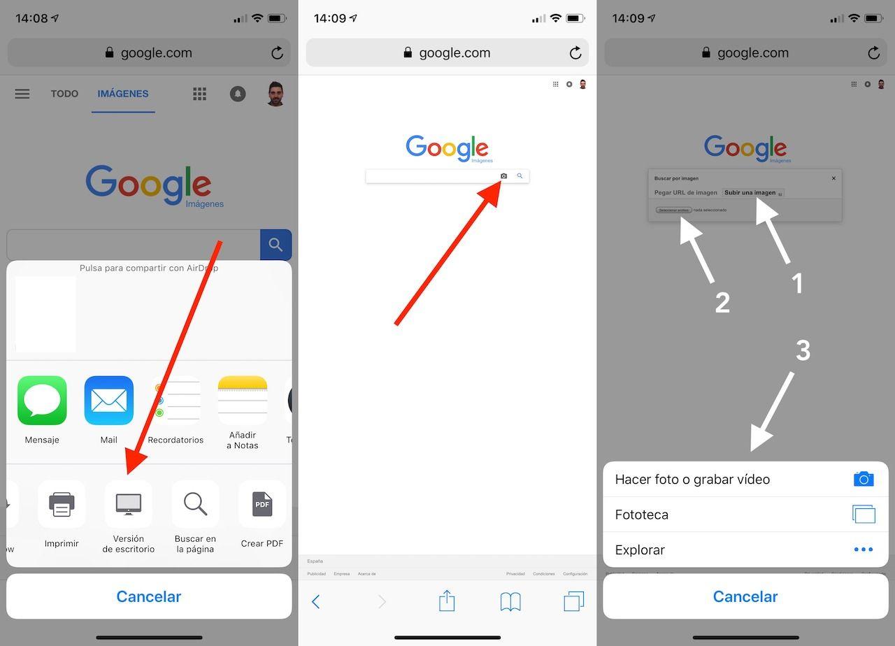 buscar por imagen en iPhone y iPad