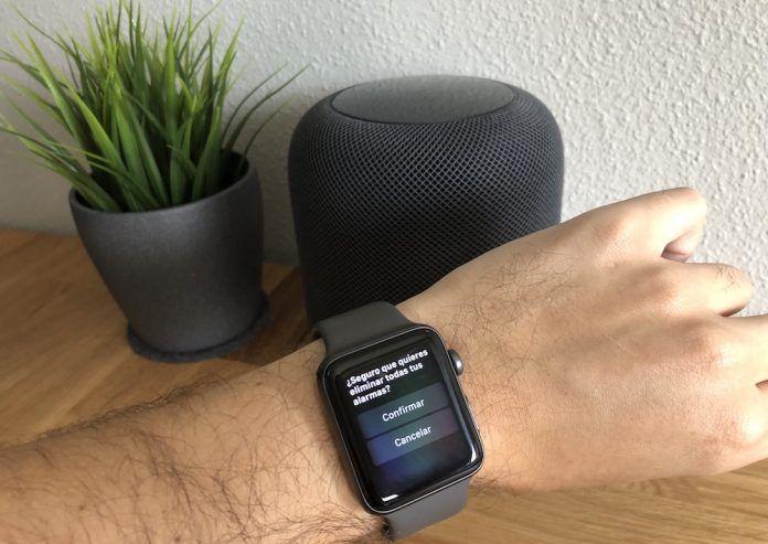 eliminar todas las alarmas apple watch