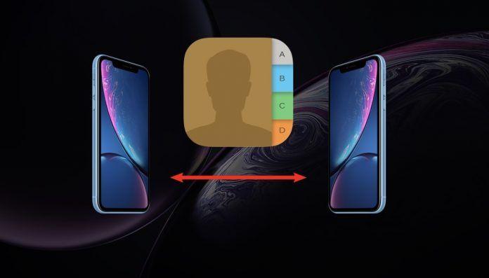pasar contactos de iphone a otro