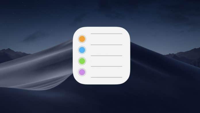 ordenar recordatorios en mac