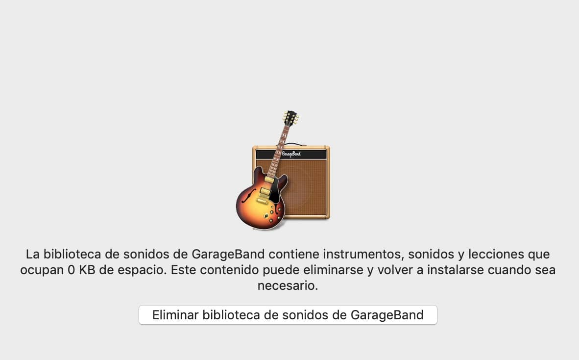 biblioteca de sonidos de GarageBand