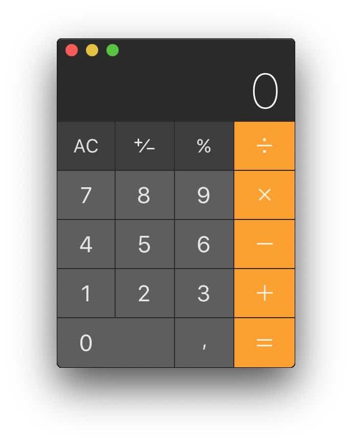 calculadora basica macos