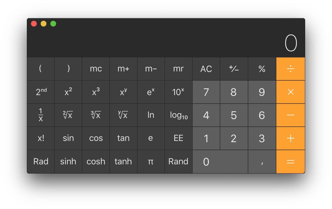calculadora cientifica macos