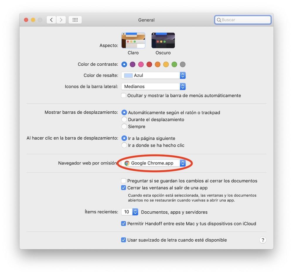 cambiar navegador por defecto en macos