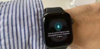 expulsar agua apple watch