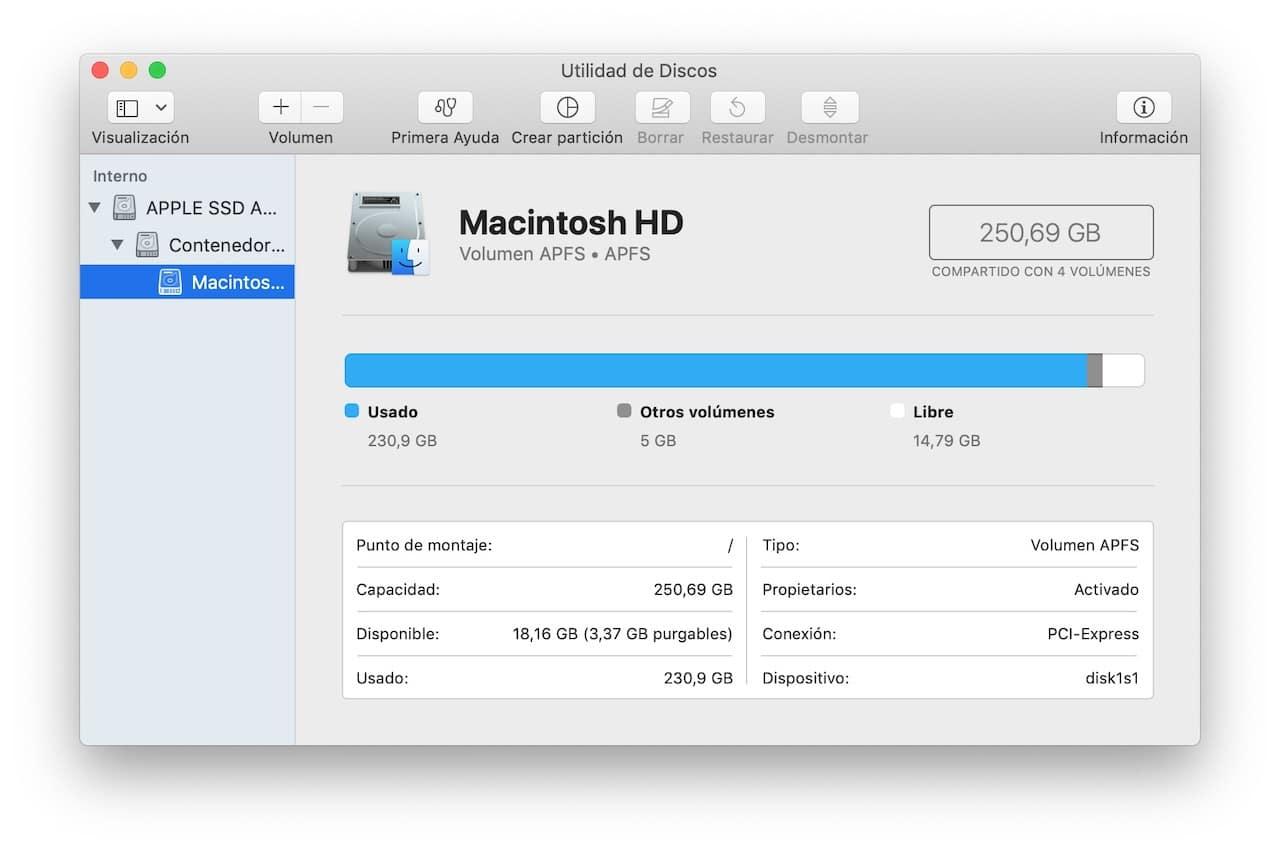 utilidad de disco en mac