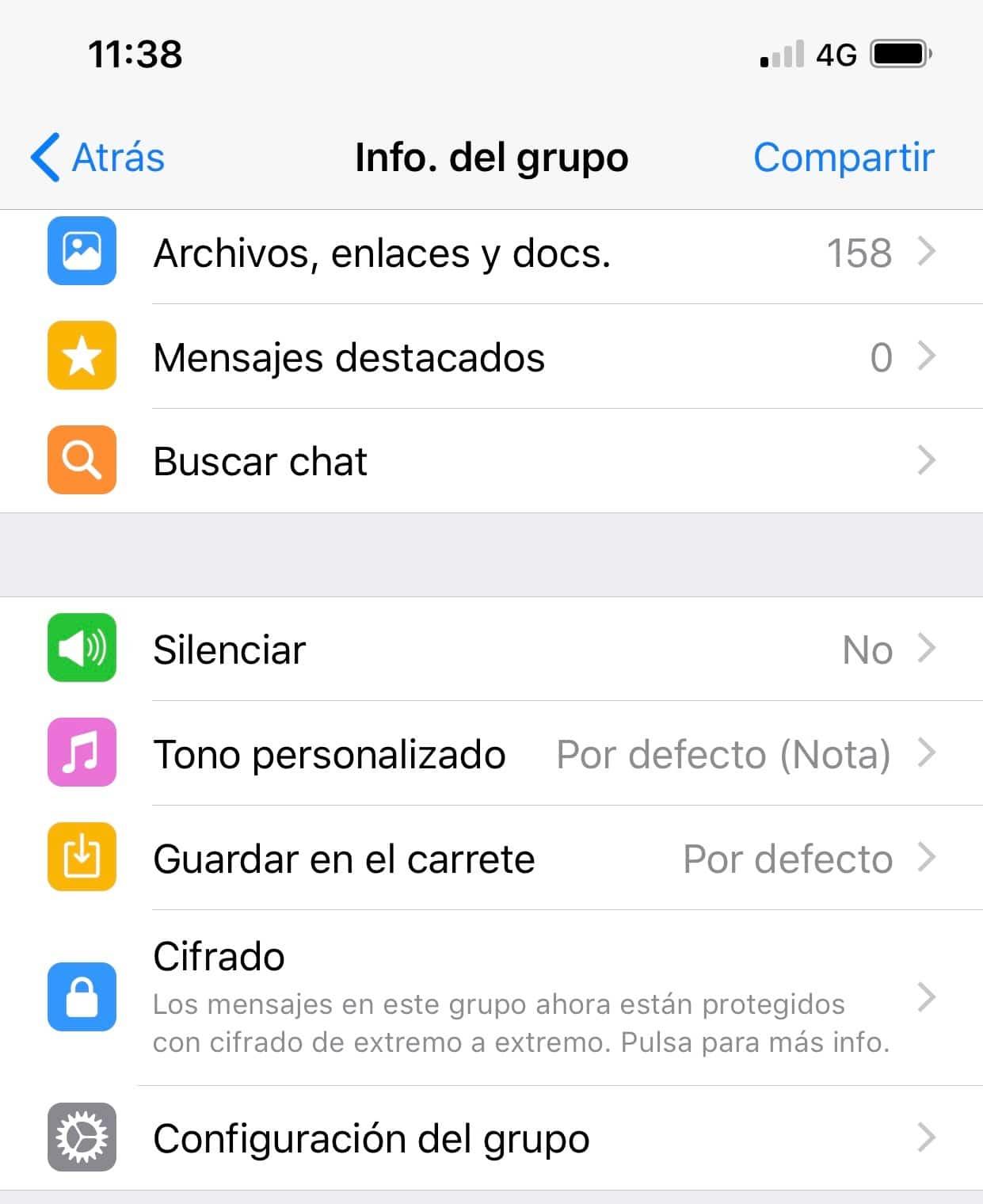 Buscar chat en whatsapp ios