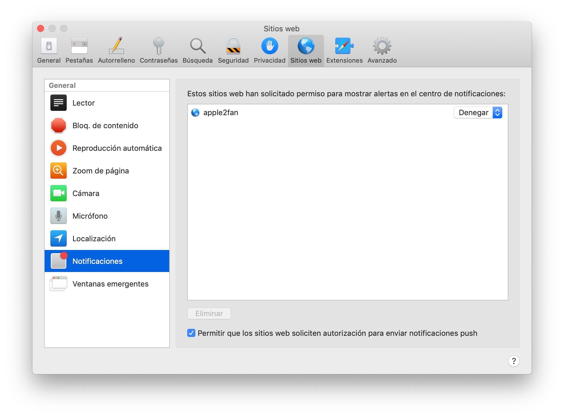 Cómo deshabilitar las notificaciones de Safari en Mac