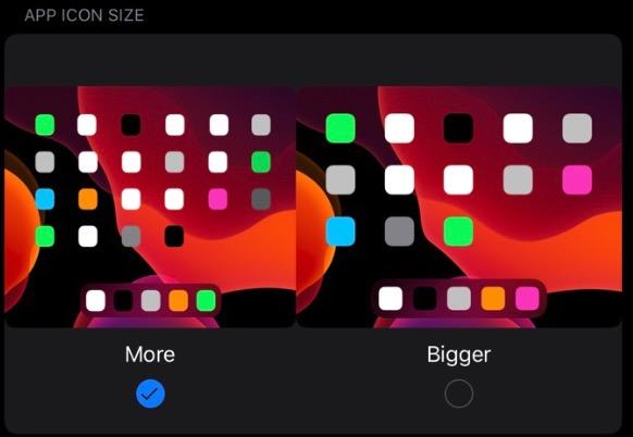 Cambiar el tamaño de los iconos en iPadOS