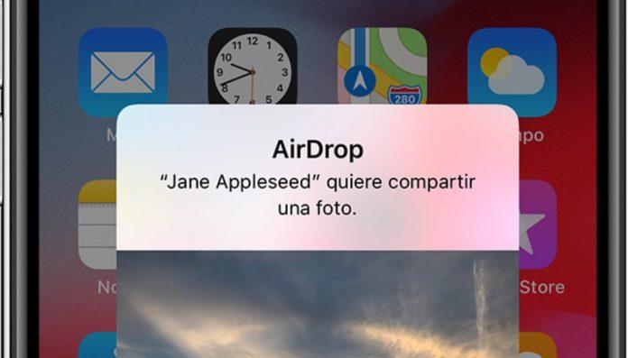 fallo en AirDrop permite ver tu numero de telefono