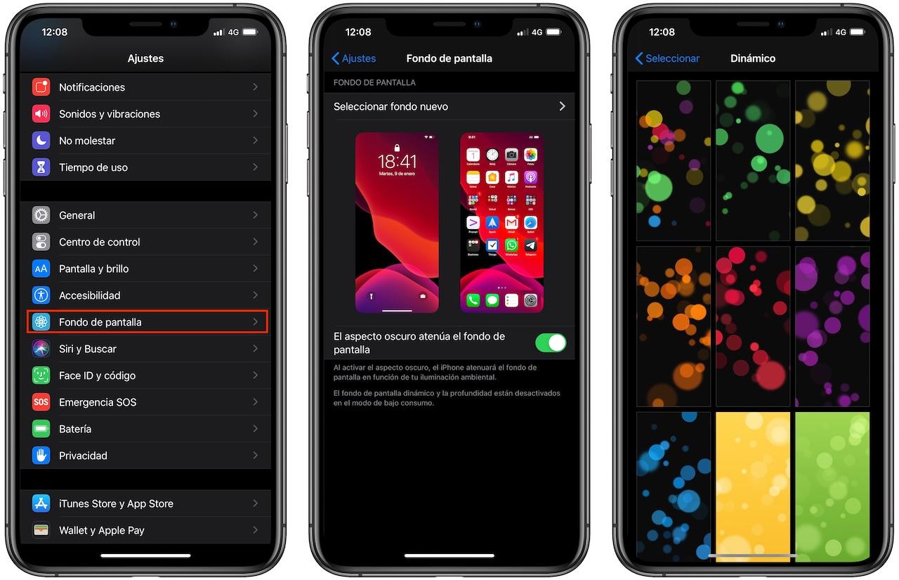 fondo de pantalla dinamico iphone
