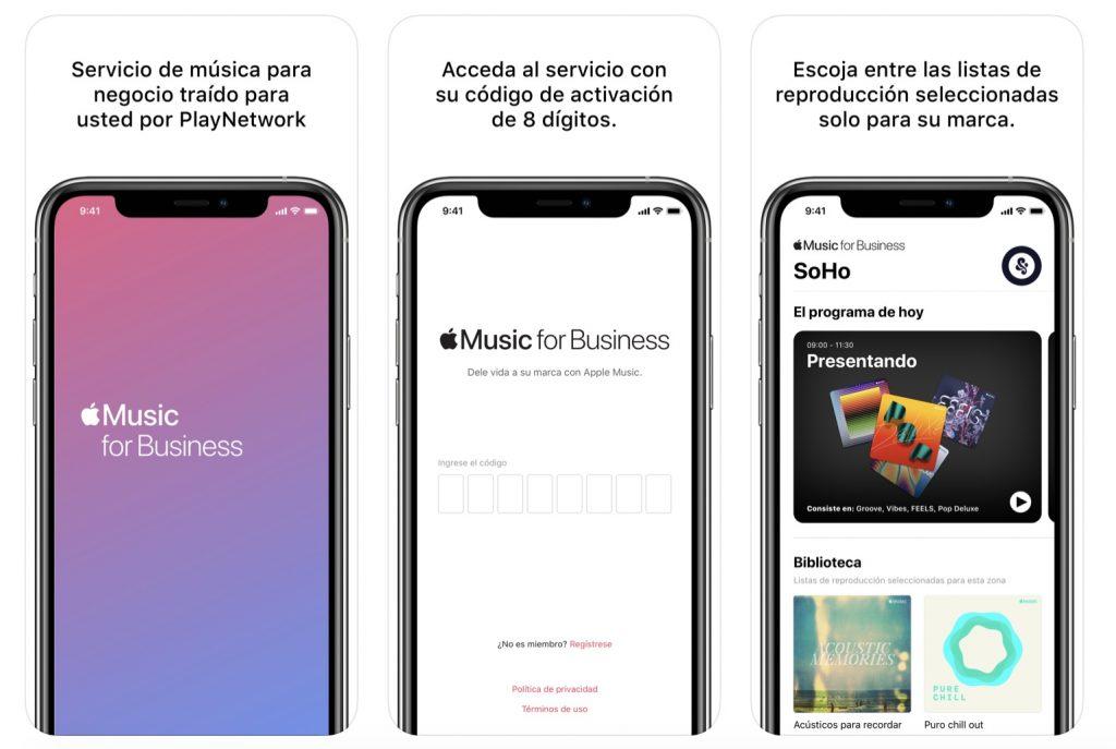 apple music business aplicacion ios
