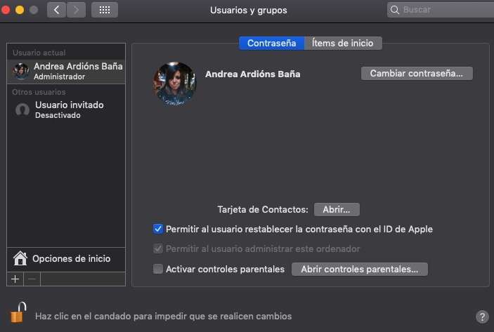 Convertir un usuario en administrador en Mac