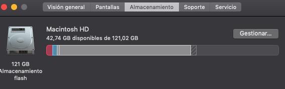 Saber cuanto espacio tengo en el disco duro de Mac