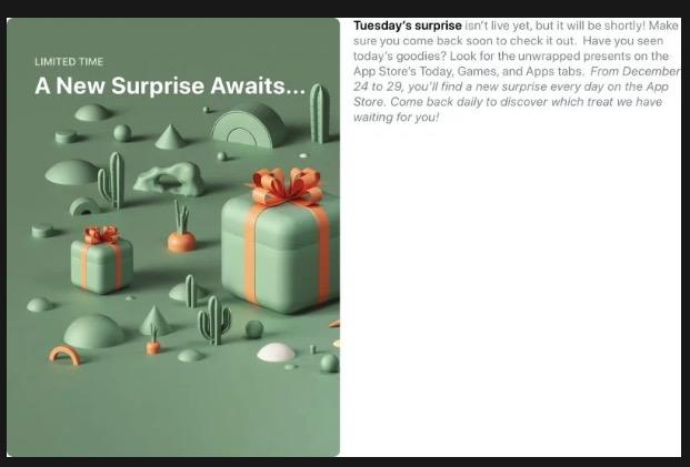sorpresa app store navidad