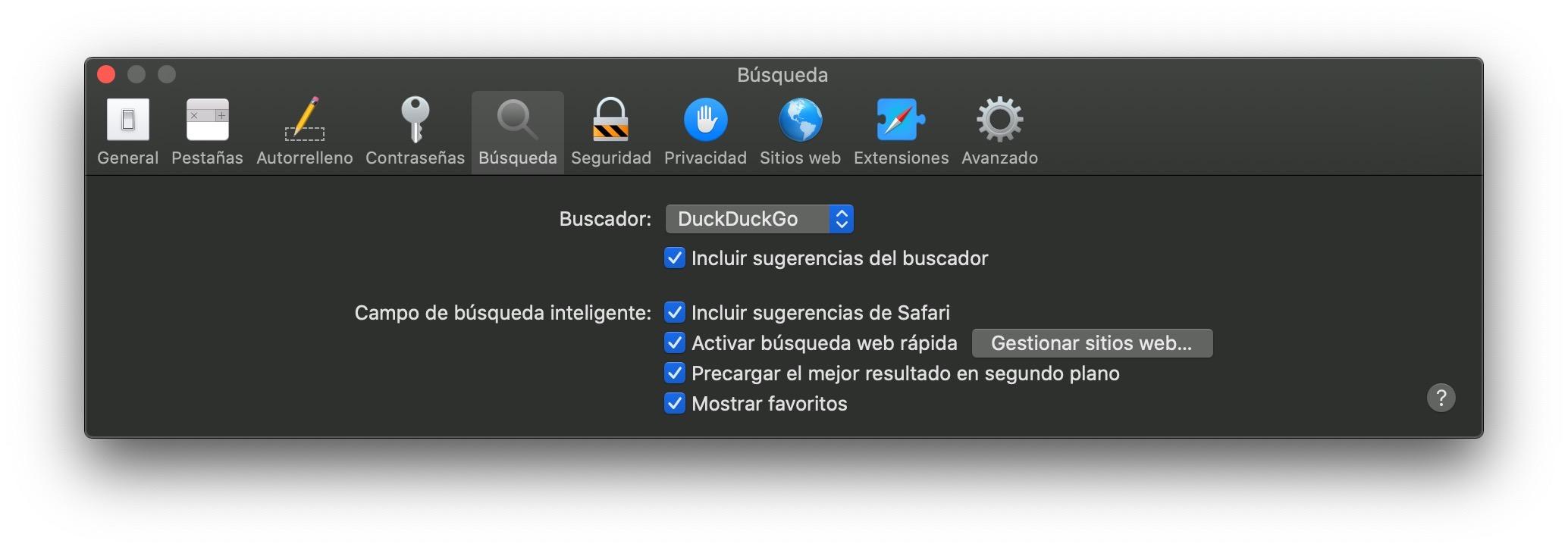 Cómo cambiar el motor de búsqueda de Safari en Mac