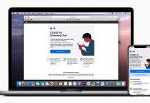 app del COVID-19 de Apple