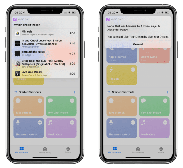 Music Quiz del iPod en iPhone