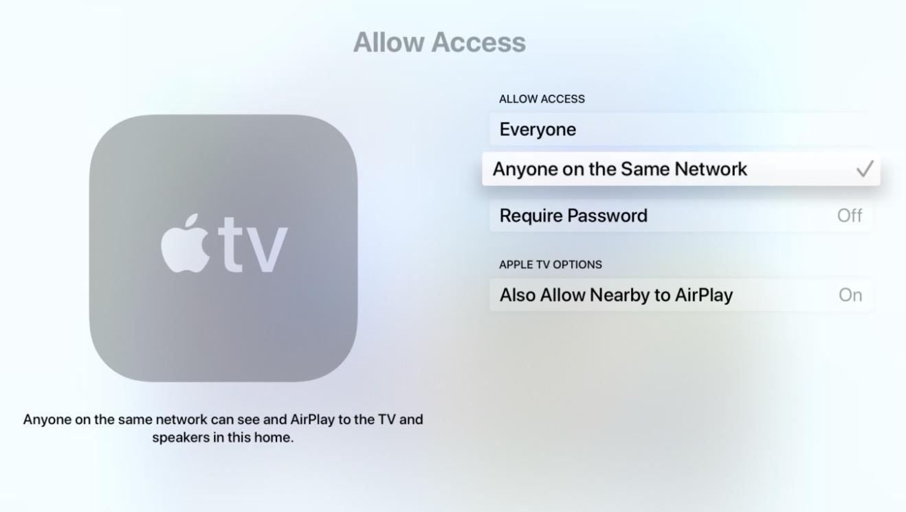Evitar que cualquiera se conecte por AirPlay a tu Apple TV