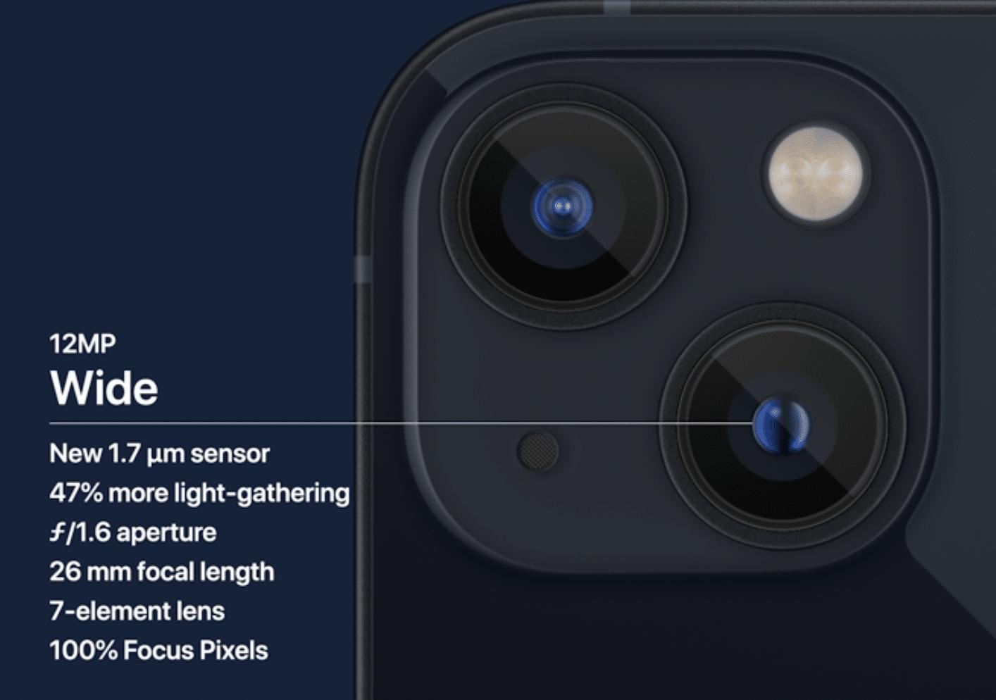 cámara iPhone 13
