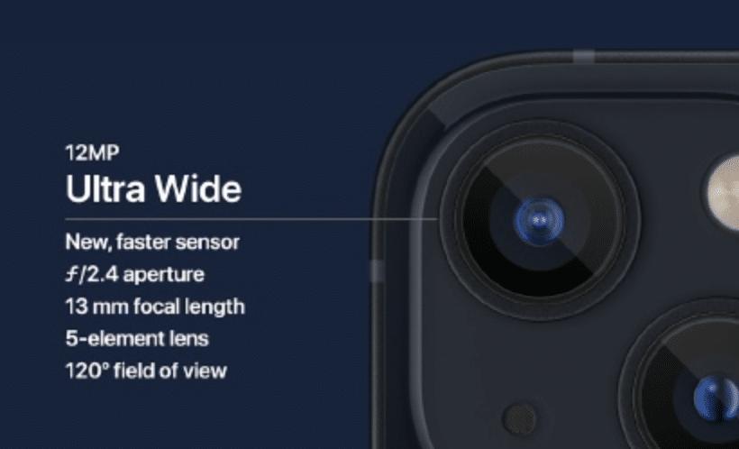 cámara iphone 13 secundaria